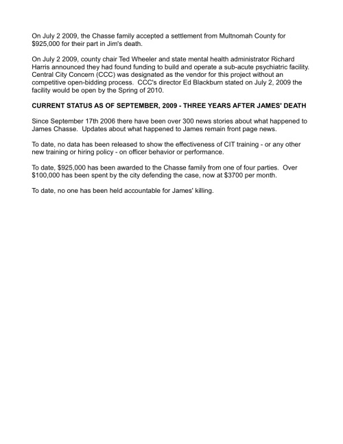 James Chasse Status Report - September 2009(4)